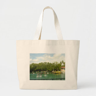 Dancing Dolphins in Miami Jumbo Tote Bag
