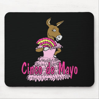 Dancing Donkey Cinco de Mayo T-shirts and Gifts Mouse Pad