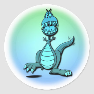 Dancing Dragon Design Sticker