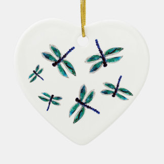 Dancing Dragonfly Art Christmas Ornament