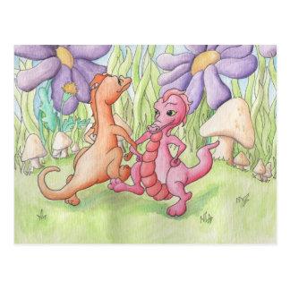 Dancing Dragons Postcard