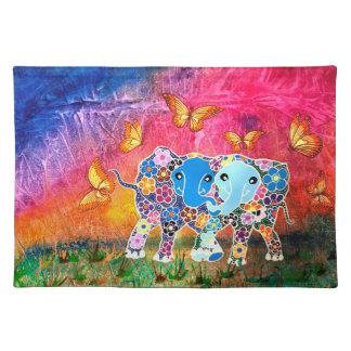 Dancing Elephants Placemat