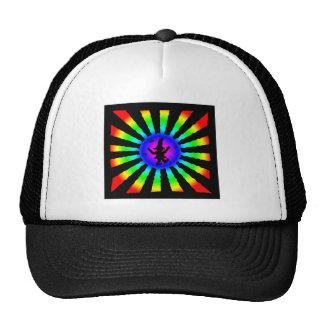 Dancing Elf in Rainbow Sun Rays - Hats