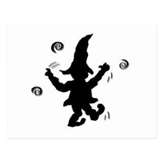 Dancing Elf - nd Postcard