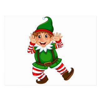 Dancing Elf Postcard