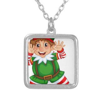 Dancing Elf Square Pendant Necklace