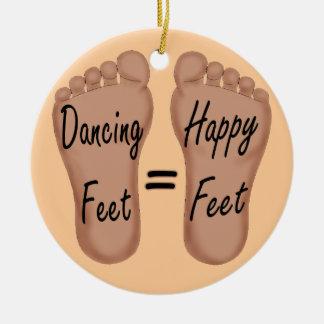 Dancing Feet Are Happy Feet Christmas Ornament