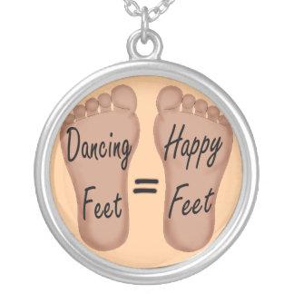 Dancing Feet Are Happy Feet Custom Necklace