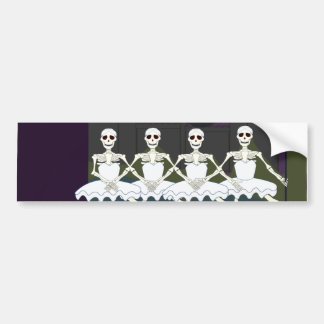 Dancing Female Skeletons Bumper Stickers