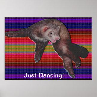 Dancing Ferret Poster