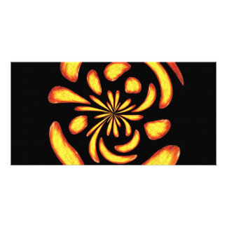 Dancing fire balls picture card