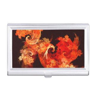 Dancing Firebirds Abstract Art Business Card Holder