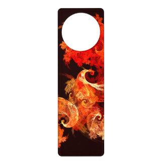 Dancing Firebirds Abstract Art Door Hanger