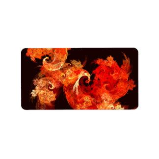 Dancing Firebirds Abstract Art Label