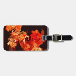 Dancing Firebirds Abstract Art Luggage Tag