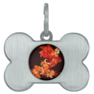 Dancing Firebirds Abstract Art Pet ID Tag