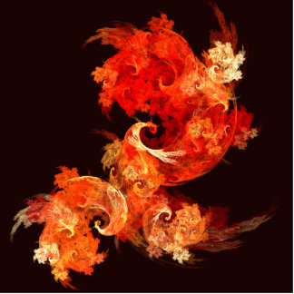 Dancing Firebirds Abstract Art Standing Photo Sculpture