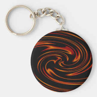 dancing flame basic round button key ring