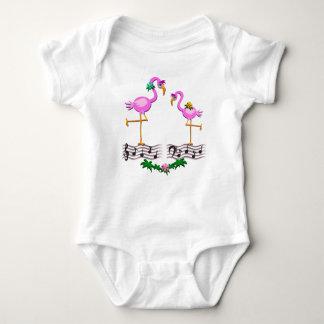 Dancing Flamingos Baby Bodysuit