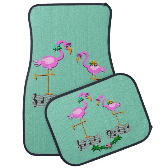 Dancing Flamingos Car Mat