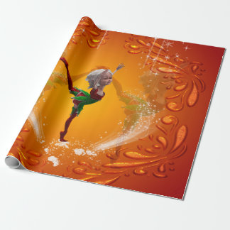 Dancing for christmas wrapping paper