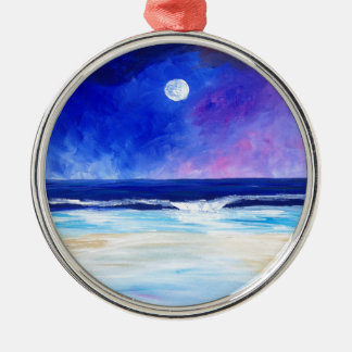 Dancing for the Moon reflective art statement Christmas Ornament