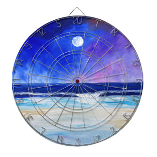 Dancing for the Moon reflective art statement Dartboard
