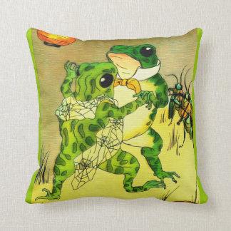 Dancing Frogs Cushion
