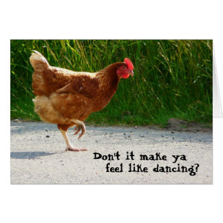 Dancing Funky Chicken Card