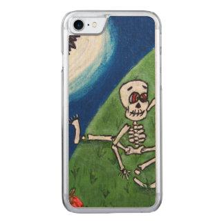 Dancing Funny Skeleton Bat Moon Halloween Carved iPhone 8/7 Case