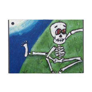 Dancing Funny Skeleton Bat Moon Halloween iPad Mini Case
