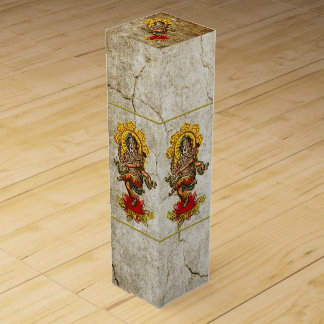 DANCING GANESHA antique + your background Wine Gift Box