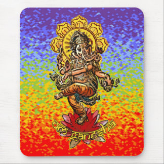 DANCING GANESHA | chakren colors Mouse Mat