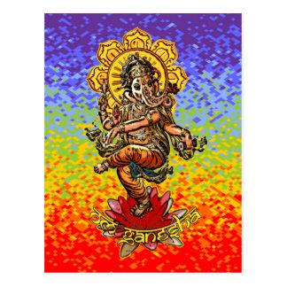 DANCING GANESHA | chakren colors Postcard