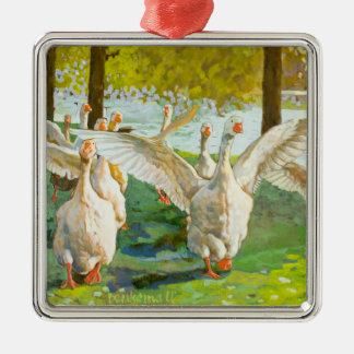 Dancing Geese Christmas Ornament