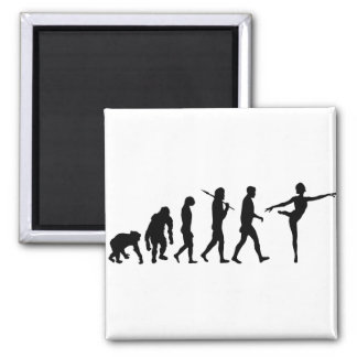 Dancing gifts for ballet and modern dancers square magnet