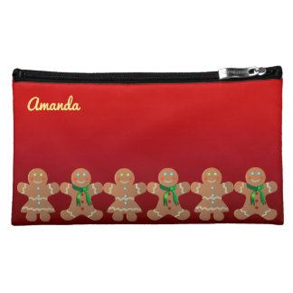 Dancing Gingerbread Cookies Cosmetic Bags