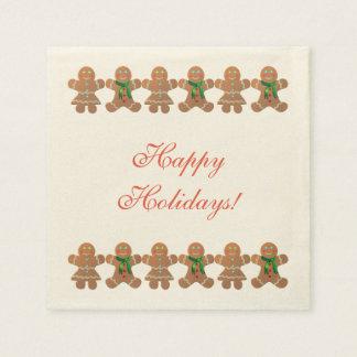 Dancing Gingerbread Cookies Paper Serviettes