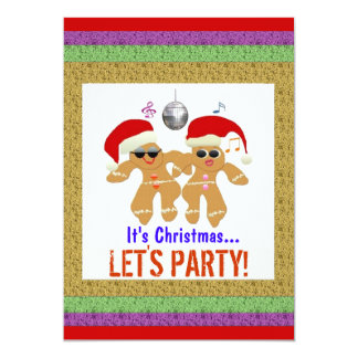 Dancing Gingerbread Cookies Party Invitations