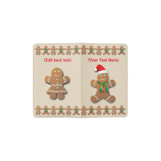 Dancing Gingerbread Cookies Pocket Moleskine Notebook