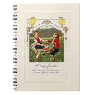 Dancing Girl and Easter Bunny Notebook