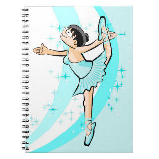 Dancing girl of Ballet dancing with passion Notebook