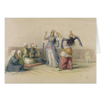 Dancing Girls at Cairo, from 'Egypt and Nubia' Greeting Card