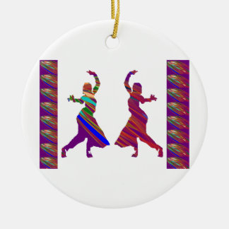 DANCING Girls :  Indian Bollywood Style Dance Christmas Ornament