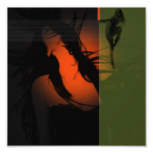Dancing girls photo print