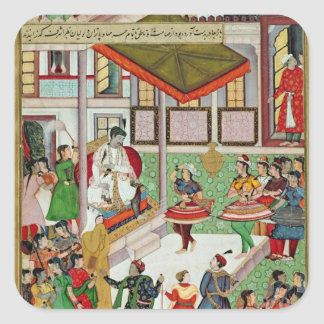 Dancing girls taken Baz Bahadur's palace at Malwa Square Sticker