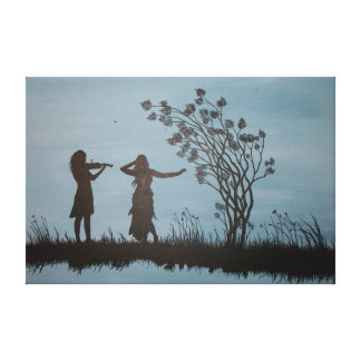 Dancing Girls Wrapped Canvas