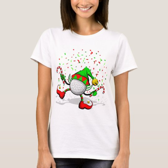 Dancing Golf Christmas Elf T-Shirt