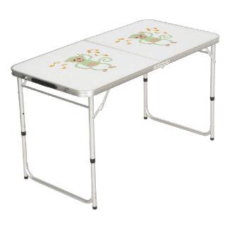 Dancing green monkey pong table