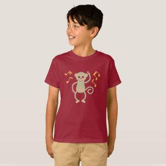 Dancing Green monkey wine color boy's shirt